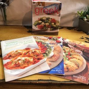 Everyday Greek and The Pampered Chef Cookbooks